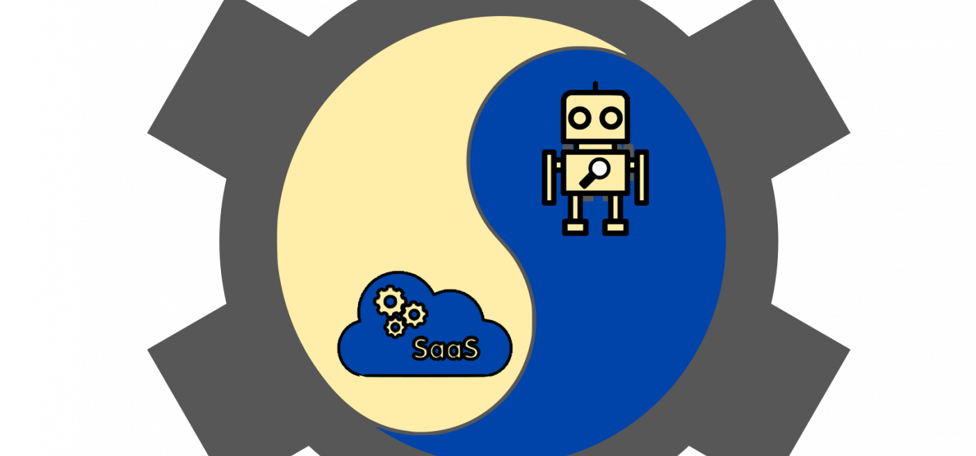 robot and saas graphic